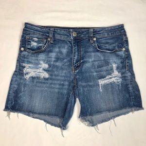 American Eagle Midi Distressed Shorts Size 12